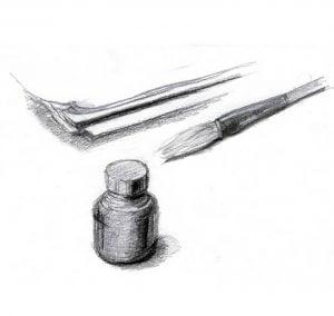 Drawing tools pencil drawing