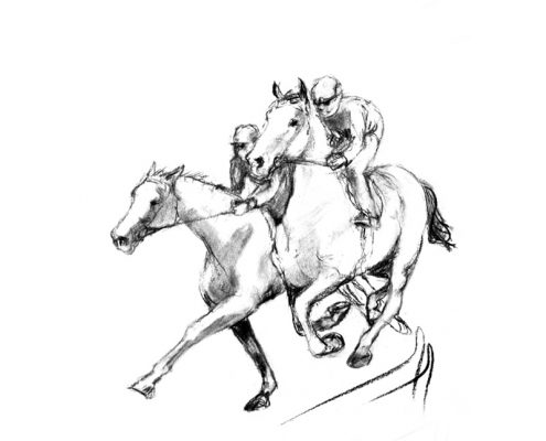 Moving along 1 charcoal racehorses
