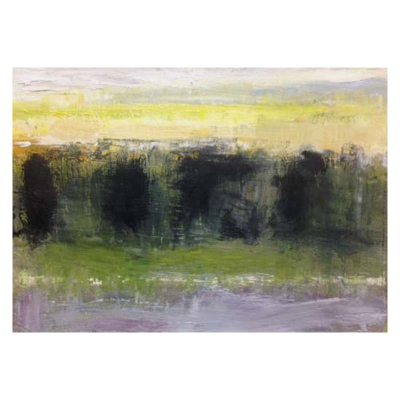Oil sketch on card Airth, Forth Valley 160 x 120 mm