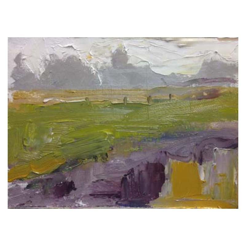 Oil sketch on card Cambusbarron, Stirling 160 x 100 mm