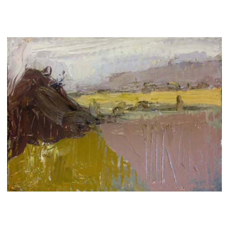 Oil sketch on card Stirling Castle 160 x 100 mm