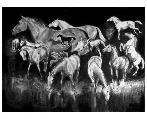 These We Have Loved charcoal on paper