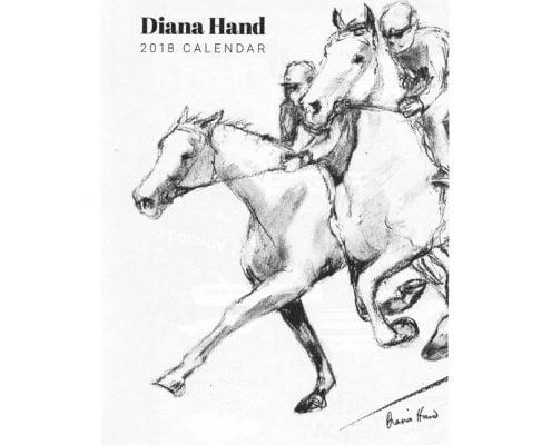 Diana Hand A4 equestrian calendar racing theme cover