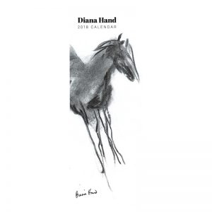Diana Hand slimline equestrian calendar charcoal drawings cover