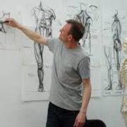 Alan McGowan teaching anatomy