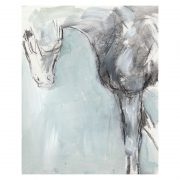 ABSTRACT 11 Horse's foreleg paint and charcoal drawing