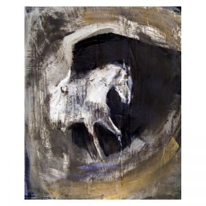 Abstract 12 Horse in cave brown paint