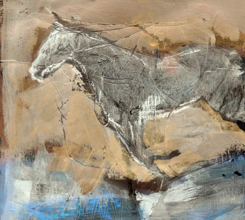 Abstract 5 Forward horse paint and charcoal