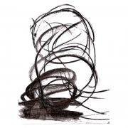 Abstract drawing of horse charcoal on paper