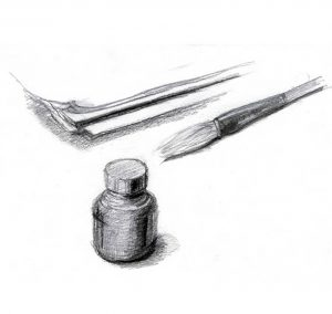 Drawing tools pencil drawing