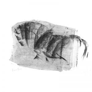 Horse spirit charcoal on paper MUG