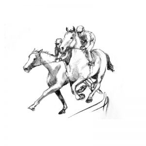 Racing scenes 2 The gallops charcoal MUG