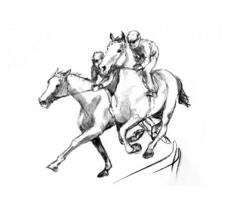 Racing scenes 2 The gallops charcoal MUG
