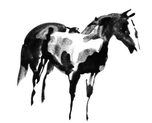 Zig Zag horse ink on paper MUG