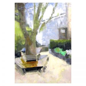 Dunblane Museum Garden paint on board