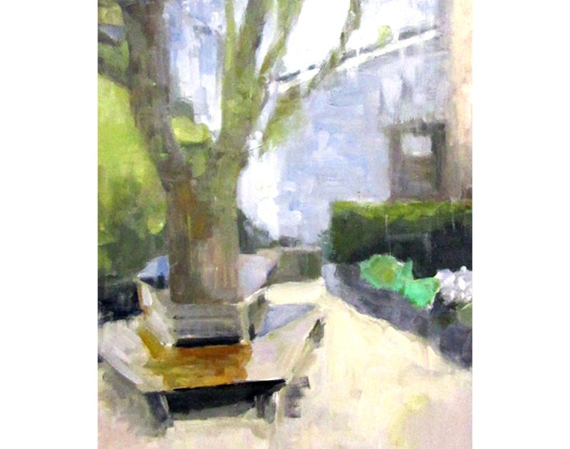Dunblane Museum Garden paint on board