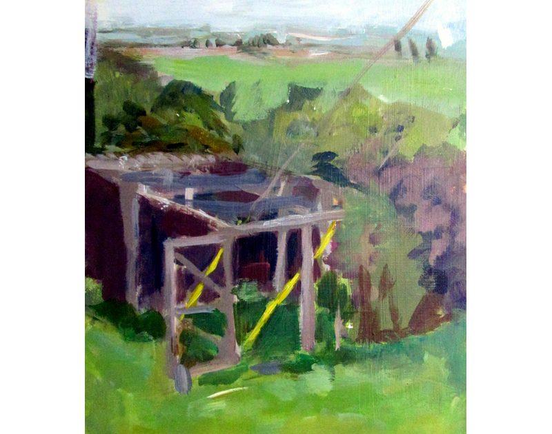 Easter Poldar Garden, Thornhill acrylic on board