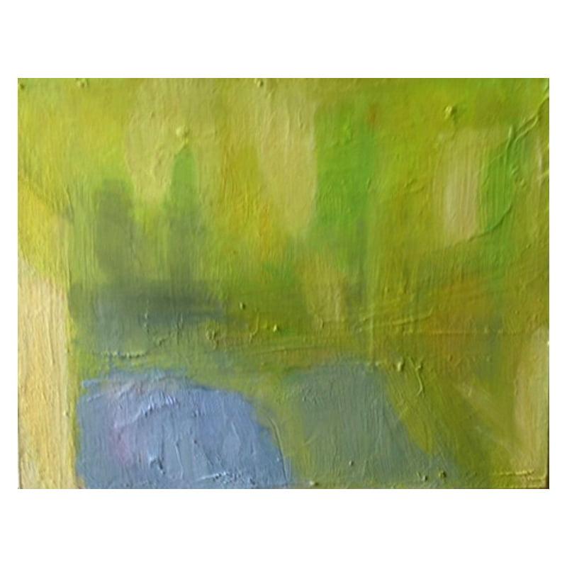 Slaidburn 1 abstract oil on card
