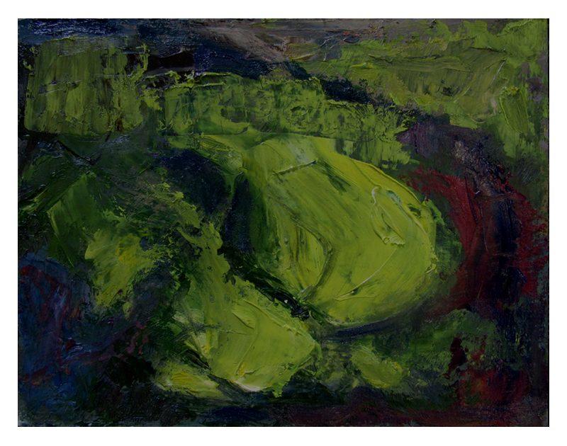 Slaidburn 16 Small oil painting abstract