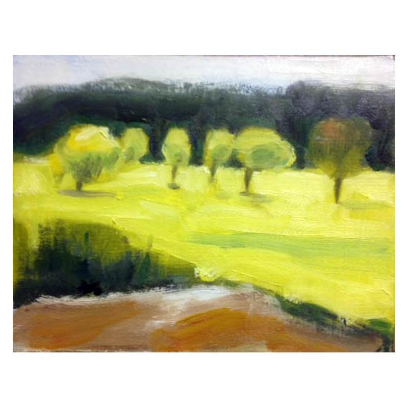 Slaidburn 18 small oil painting on card