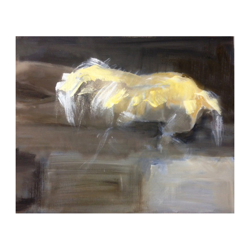 Abstract horse oil and acrylic paint on canvas