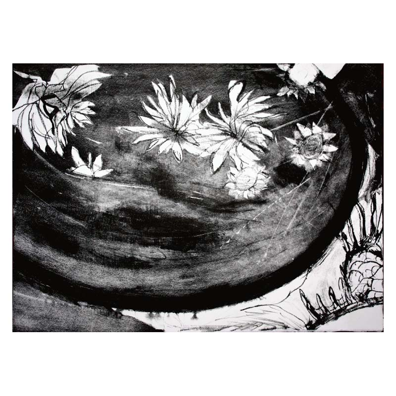 printmaking japanese flowers 3