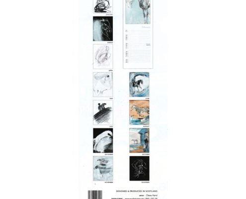 Diana Hand slimline equestrian calendar abstract year at a glance jpg