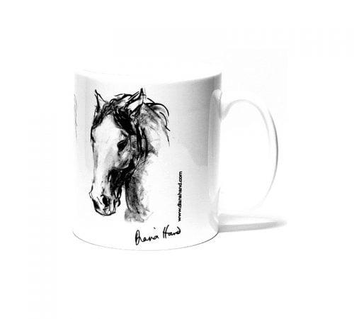 expressive head mug diana hand