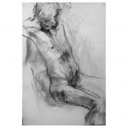 WP Figure in charcoal on paper