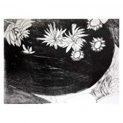 Flowers Stone lithograph print