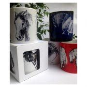 Ceramic mug equestrian theme