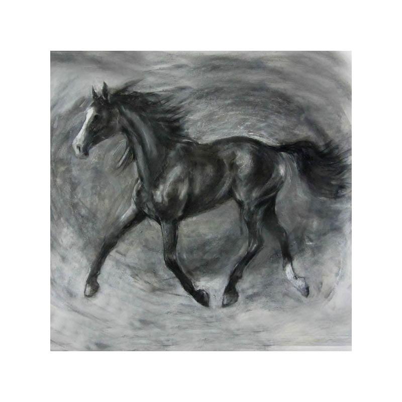 Leo charcoal drawing print Diana Hand