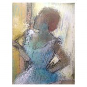 Dancers on a bench pastel Degas