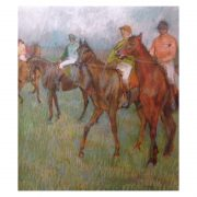 Jockeys in the rain pastel Degas