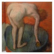 Woman in a tub pastel Degas