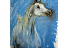 Kirstie Campbell Shibab pastel drawing