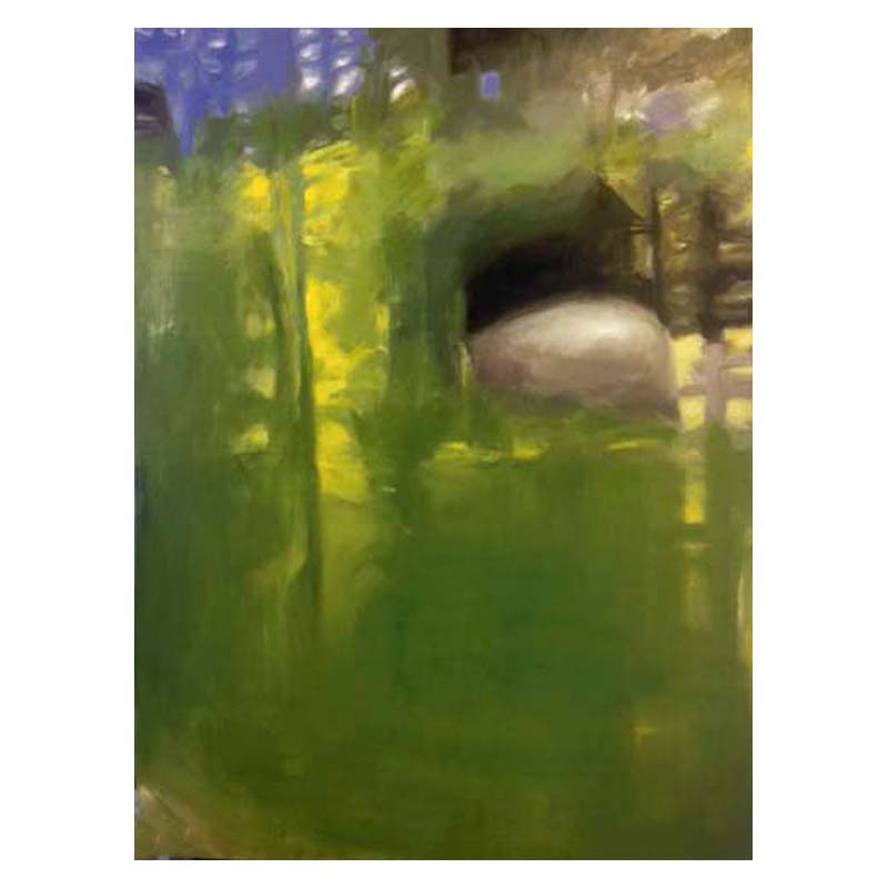 Green 2 oil painting Diana Hand