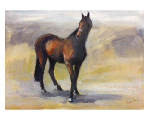 Thoroughbred stallion Pastel by Diana Hand