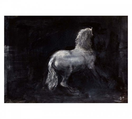 Mixed media drawing of a horse by Diana Hand