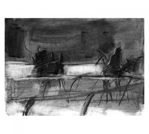 Charcoal drawing Newmarket Diana Hand