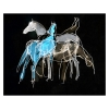 Four Horses in Blue Digitally altered drawing by Diana Hand