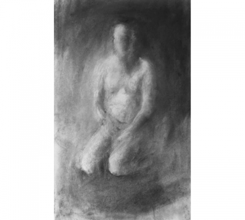 Solitude charcoal drawing 300 x 500 mm