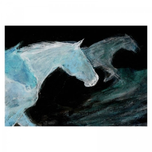 Midnight Horses drawing by Diana Hand