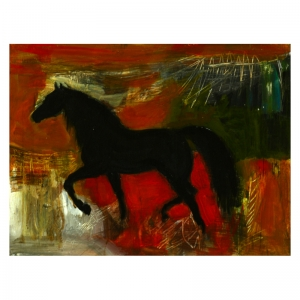 Roaring Red Acrylic on board painting by Diana Hand