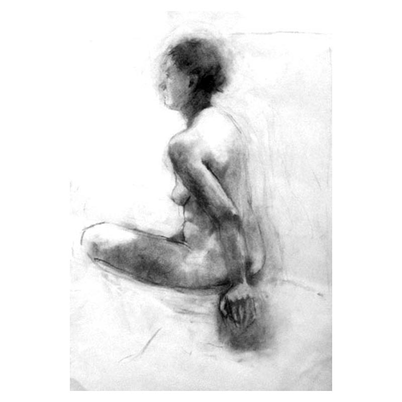 Life study charcoal on paper 2017