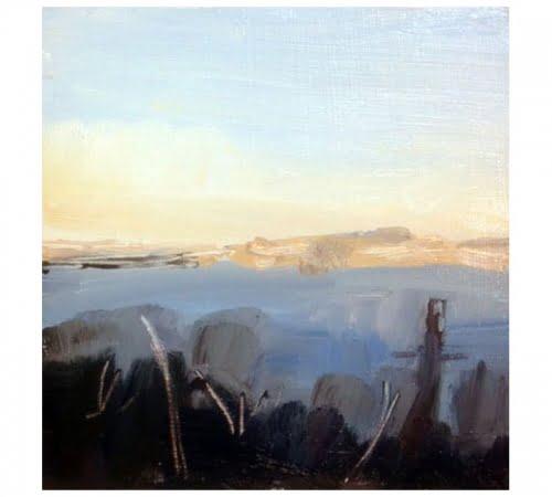 Christmas Eve 1 oil sketch by Diana Hand Flanders Moss