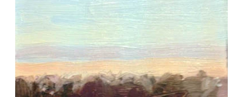 Christmas Eve 5 oil sketch by Diana Hand Flanders Moss