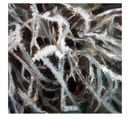 Christmas Eve 6 oil sketch by Diana Hand Flanders Moss