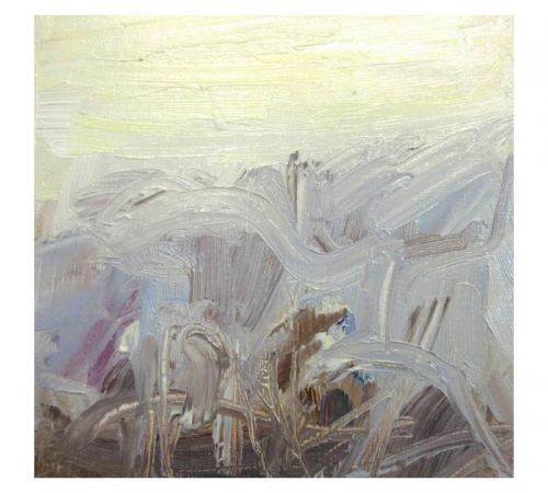 Christmas Eve 7 oil sketch by Diana Hand Flanders Moss